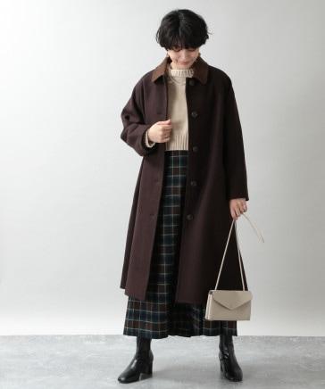 【WOMENS】ケープメリノステンカラーコート