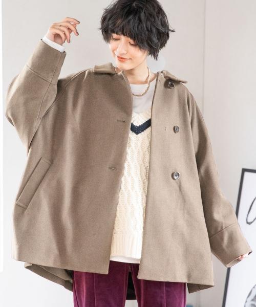 【WOMENS】ウーリーテック/ポンチョコート