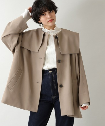 【WOMENS】PEツイルセーラーカラーコート