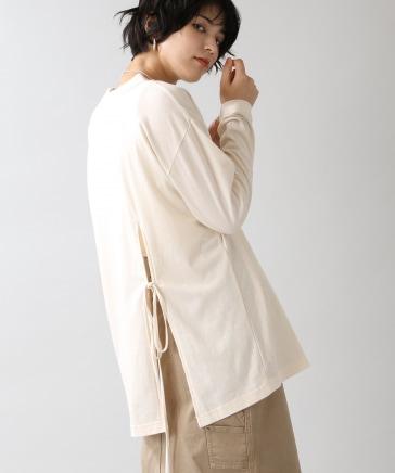 【WOMENS】フィッシュテールリボンロンT