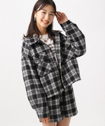 ☆WEB先行予約☆シャギーチェックジャケット
