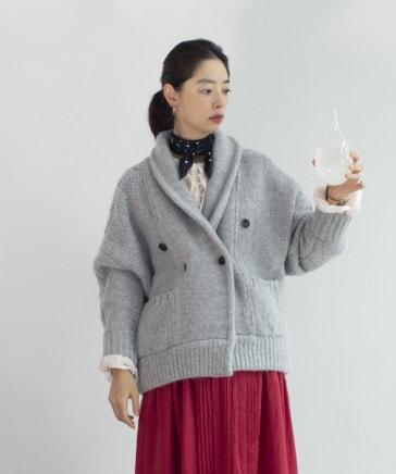 《Natural by/スタイリスト石井あすかさんコラボ》1.5ゲージ手編み風ニットアウター