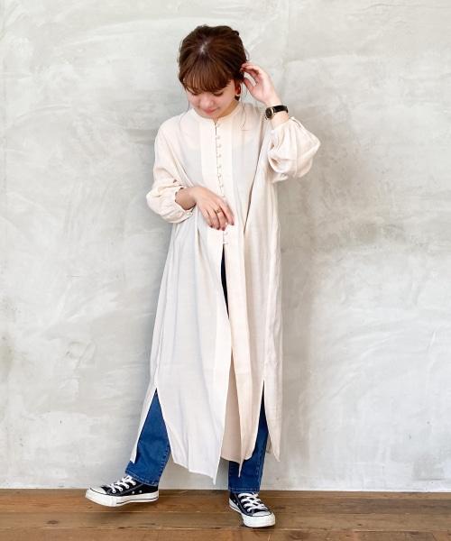 【低身長向けアイテム/WEB限定】スリットワンピース