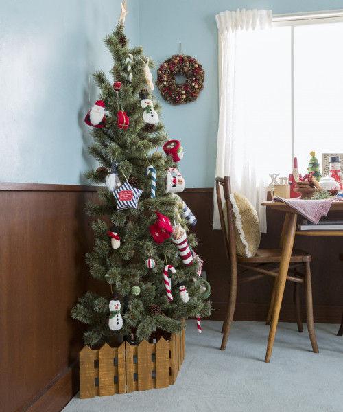 (studio CLIP/スタディオクリップ)クリスマスハーフツリー 150cm/ [.st](ドットエスティ)公式