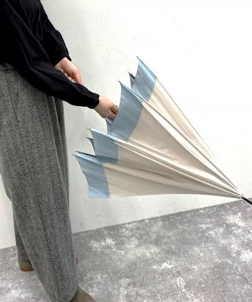 ロゴ刺繍晴雨兼用長傘