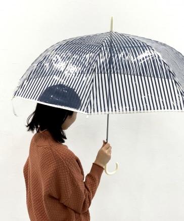 ストライプビニール傘