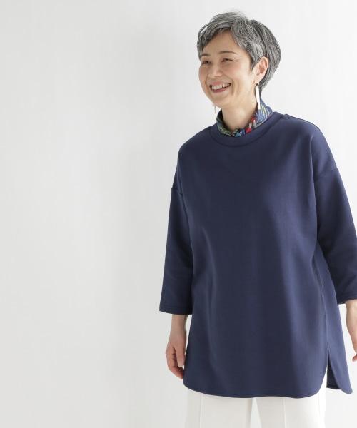 《ウタオ》きれい目ダンボールプルオーバー