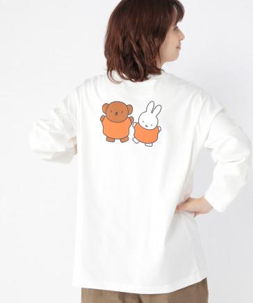 巾着付きロゴ&バックプリントロングTシャツ〔Dick Brunaコラボ〕