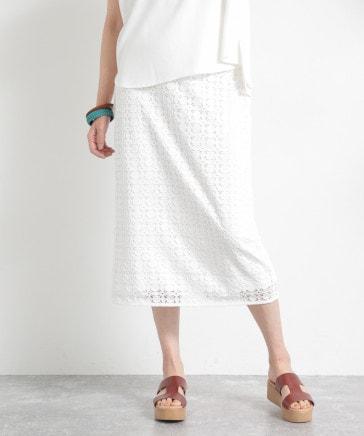 《ウタオ》スクエアフラワーレーススカート