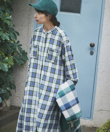 《kazumiさんコラボ》裾揺れアウターワンピース[プチサイズあり]
