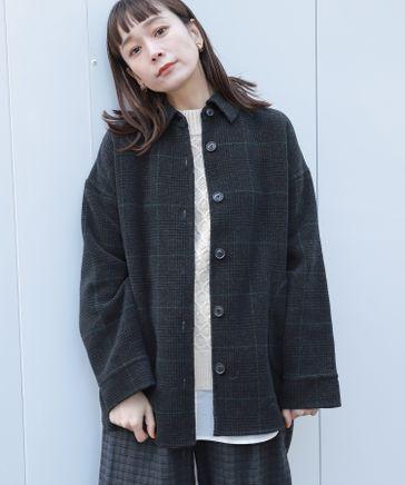 リバーシブルウールシャツジャケット